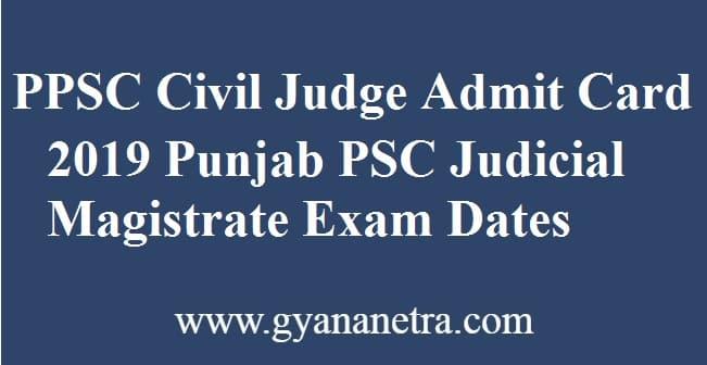 PPSC Civil Judge Admit Card