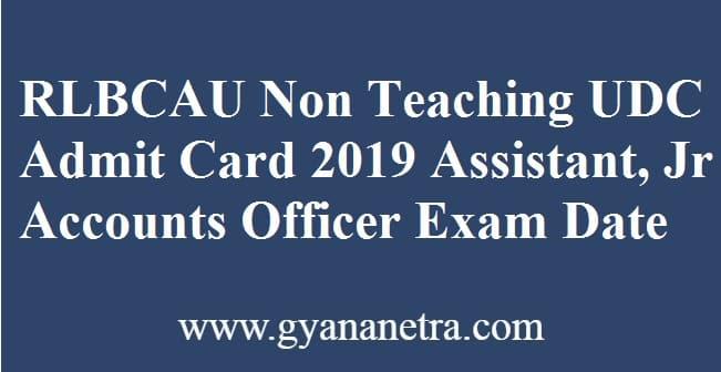 RLBCAU Non Teaching Admit Card