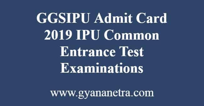 GGSIPU Admit Card