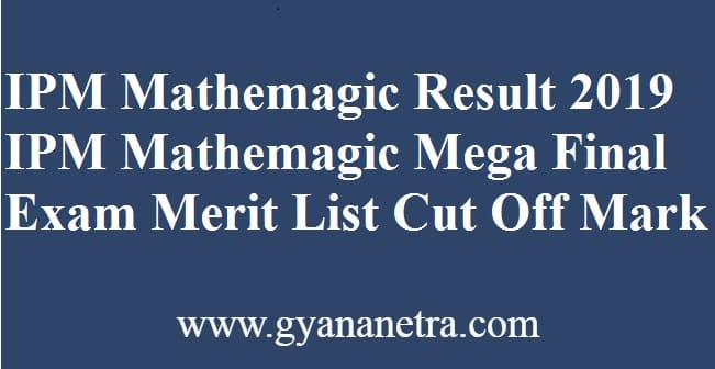 IPM Mathemagic Result
