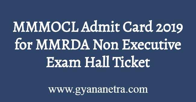 MMMOCL Admit Card