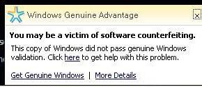 माइक्रोसोफ्ट का you may victim of software वाला सन्देश कैसे हटाएँ ?