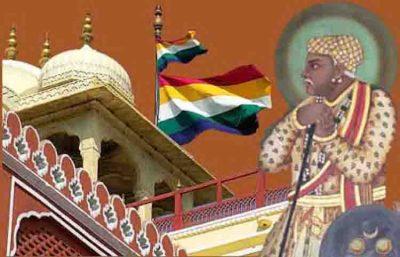 मंदिरों पर पंचरंगा ध्वज और राजा मानसिंह आमेर