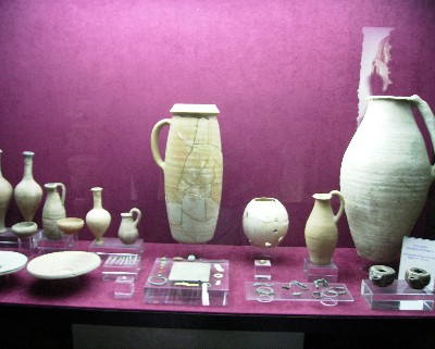 Photo: Part of the collection of Pheonician and Roman objects at the archeological museum in Almunecar, Spain. Credit: Lisa Borre.