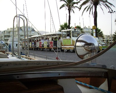 Photo: Tourist train in Benalmadena, Spain. Credit: Lisa Borre.