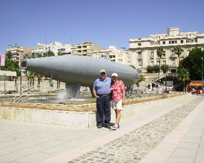 Photo: Isaac Peral 1884 submarine sculpture in Cartagena, Spain. Credit: Lisa Borre.