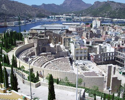 Photo: Roman theater in Cartagena, Spain. Credit: Lisa Borre.