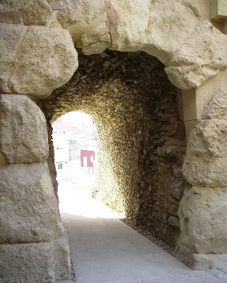 Photo: A stone archway into the Roman theatre in Cartagena, Spain. Credit: Lisa Borre.