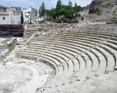 Photo: A Roman theatre was uncovered at the base of Alcazaba castle. Credit: Lisa Borre.