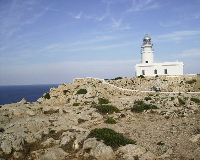 Lighthouse on Cap de Cavalleria, Menorca, Balearic Islands, Spain. Credit: Lisa Borre.
