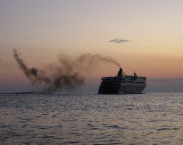 Photo: ferry departing Patras, Greece. Credit: Lisa Borre.