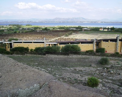 Photo: View from the necropolis of the archeology museum Sant Antioco, Sardinia. Credit: Lisa Borre.
