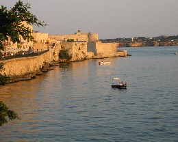 Photo: The peaceful harbor in Siracusa, Italy -- our favorite port in Sicily. Credit: Lisa Borre.