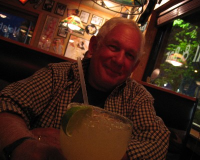 Photo: David celebrates end of Great Lakes trip. Credit: L. Borre.
