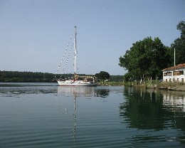 Photo: Gyatso anchored in the well-protected natural harbor of Akliman, Turkey. Credit: Lisa Borre.
