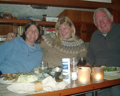 Photo: Thanksgiving aboard Gyatso in 2008. Credit: Lisa Borre.