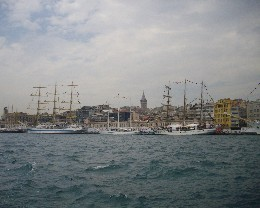 Photo: Tall ships in Istanbul's Golden Horn. Credit: Lisa Borre.
