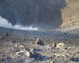 Photo: Vulcano's Grand Crater in the Aeolian Islands, Italy. Credit: Lisa Borre.