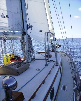 Photo: Tayana 37 Gyatso under sail in the Caribbean's Windward Islands. Credit: Lisa Borre.