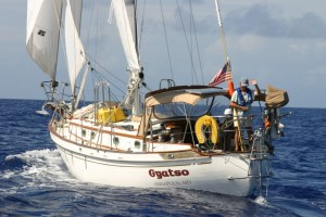 Photo: Tayana 37 Gyatso on the Atlantic in 2007.