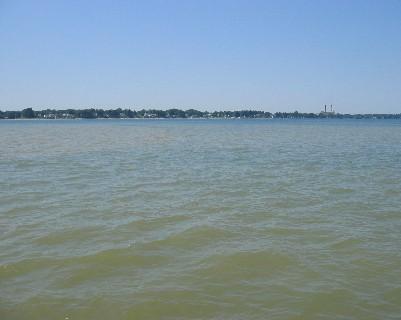 Photo: Genesee River, Lake Ontario, NY. Credit: L. Borre.