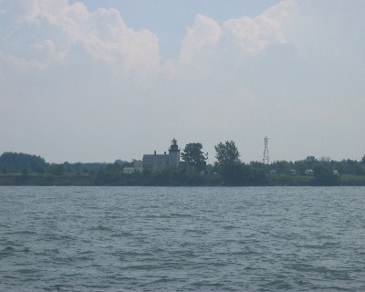 Photo: A lighthouse along the south shore of Lake Ontario west of Rochester. Credit: L. Borre.