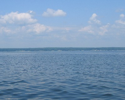 Photo: Lake Oneida is part of the Erie Canal. Credit: L. Borre.