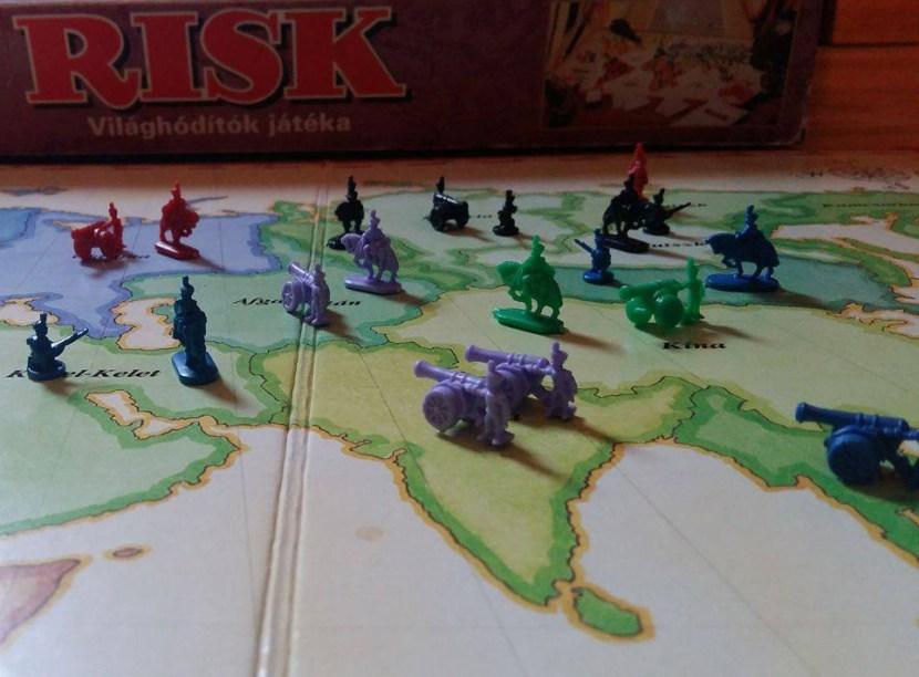 rizikó társasjáték csata