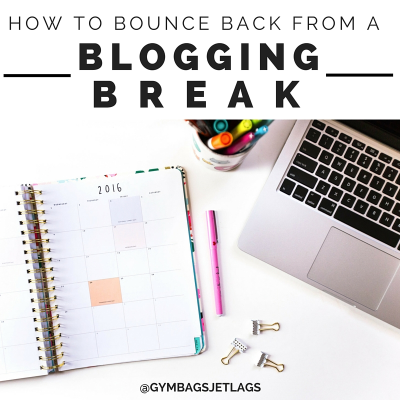How to Bounce Back from A