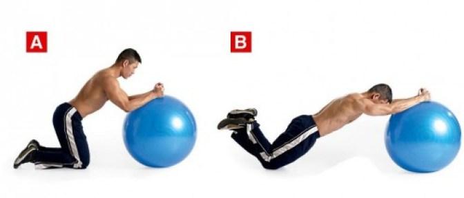 swiss ball rollout