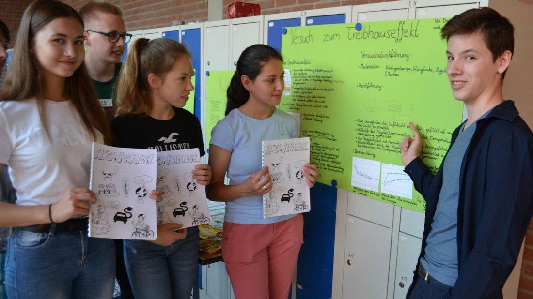 Der Klimawandel war eines von vielen Zukunftsthemen bei der Projektwoche im Gymnasium Ganderkesee. Foto: Dirk Hamm