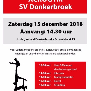 Teampresentatie Acro 15 december