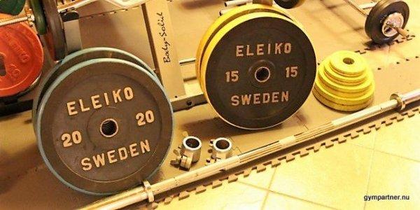 Powerlifting Eleiko Begagnade Viktskivor