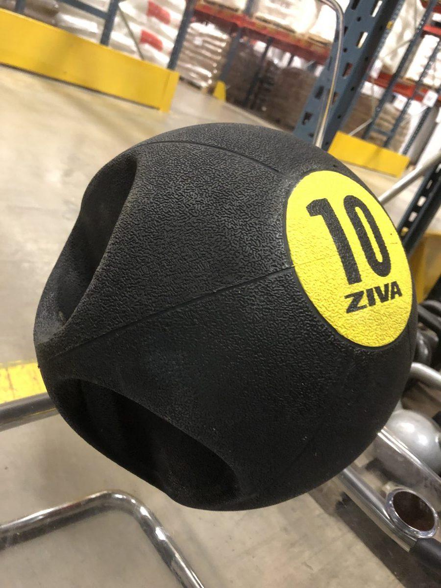 Dubbelgrepp på Medicinboll Ziva