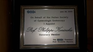 Honors Prof Philippe R. KONINCKX  Segi