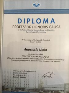Honors Prof Ussia