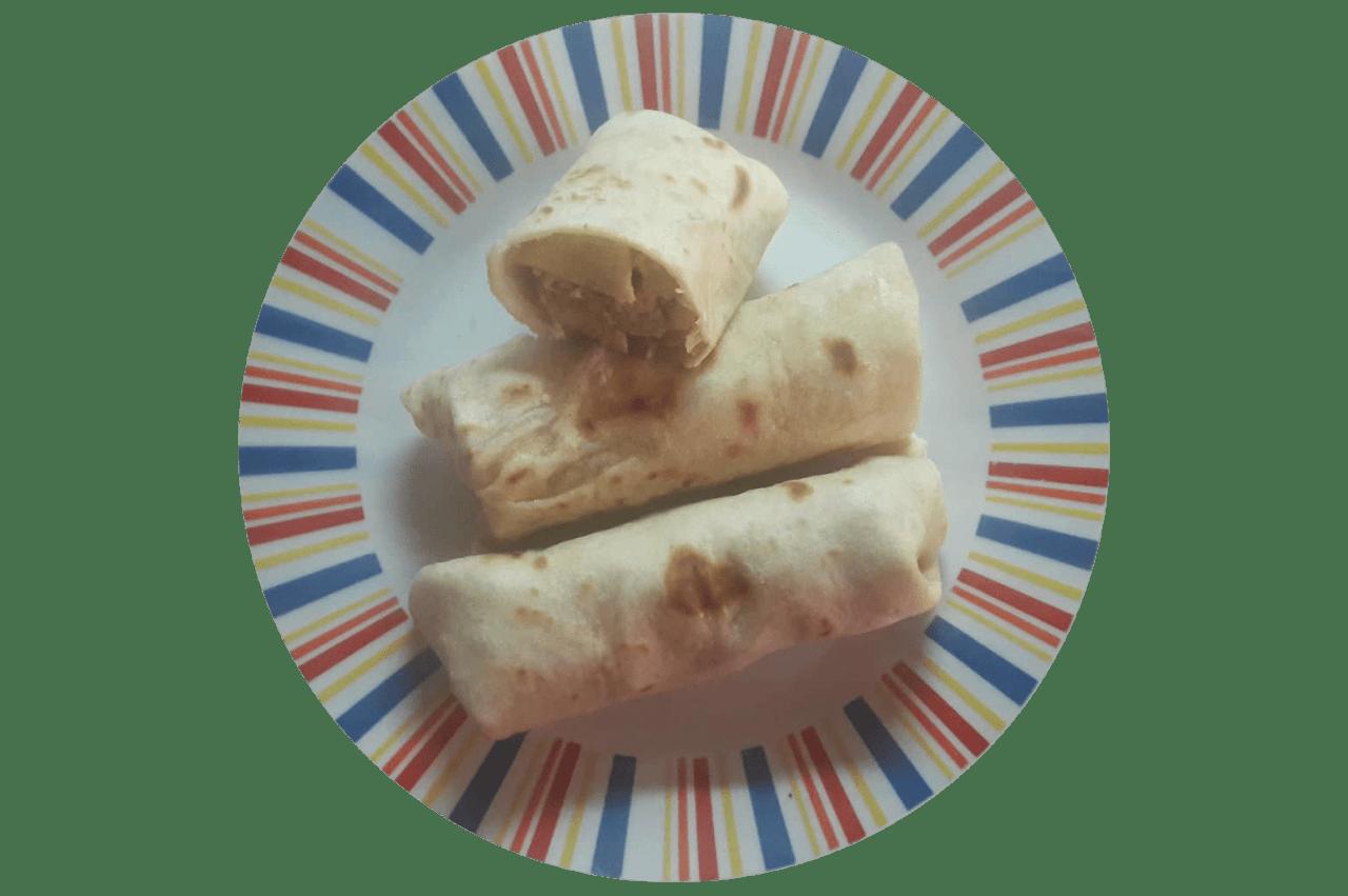 Fokhagymás csirkemelles tortilla (Házi tortilla lappal)