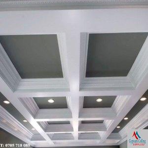 Gypsum Ceiling Design - Coffered GCI592
