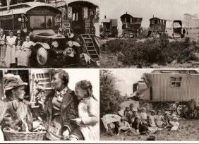 Epsom Romanies set of 8 different postcards