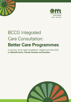 thumbnail of report cover for 'BCCG Integrated Care Consultation: Better Care Programmes' summary