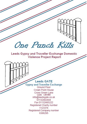 thumbnail of report cover for 'one punch kills - Leeds Gypsy and Traveller Exchange Domestic Violence Project Report'