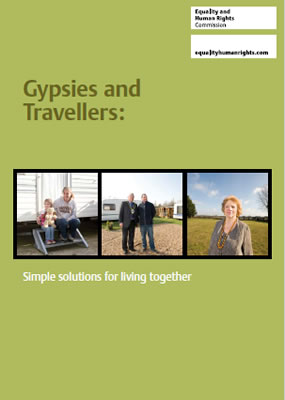 Front page of report 'Gypsies and Travellers: Simple solutions for living together'