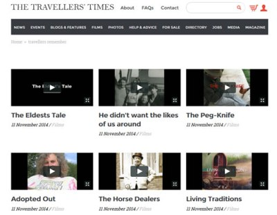 Picture of The Traveller's Times website with videos