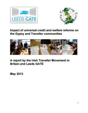 thumbnail of report cover for 'Impact of universal credit and welfare reforms on the Gypsy and Traveller communities'