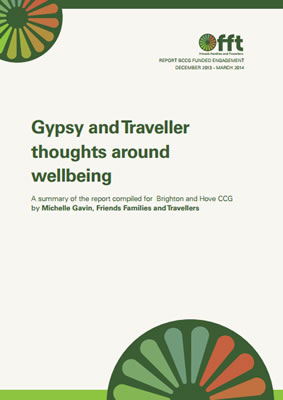 thumbnail of report cover for 'Gypsy and Traveller thoughts around wellbeing' by FFT
