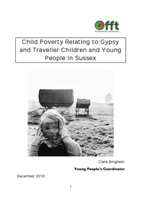 Front page of report 'Child Poverty Relating to Gypsy and Traveller Children and Young People in Sussex'