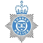 Picture of the blue Sussex Police crest
