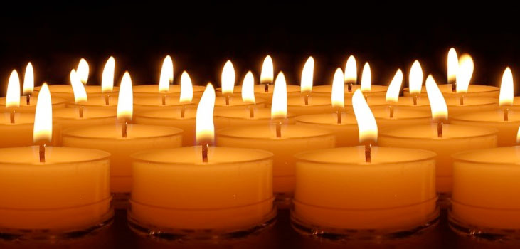 Picture of lit candles