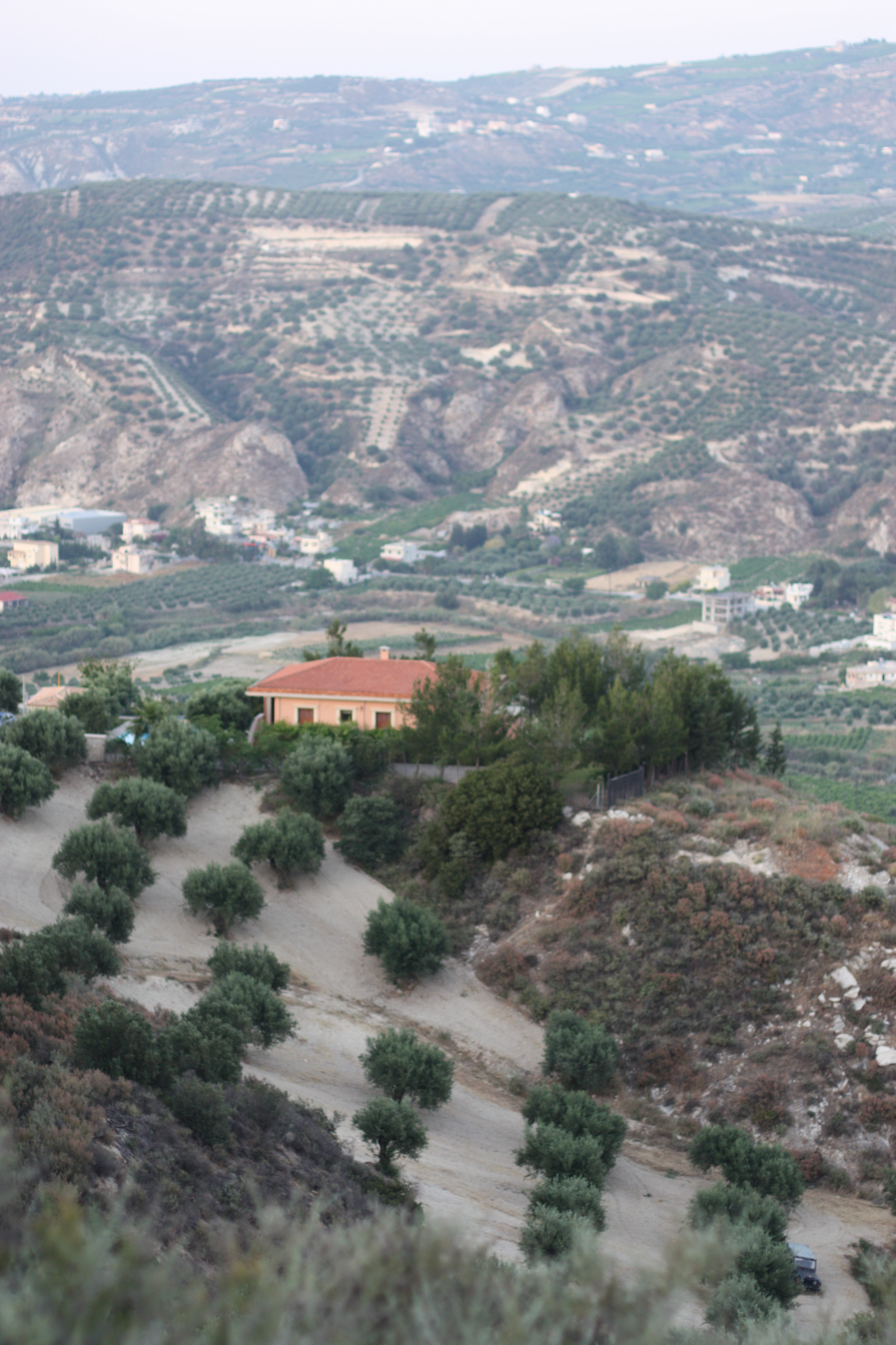 A mountain view in Crete | Gypsy Family Travel