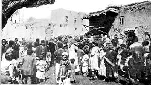 Armenians during the genocide.